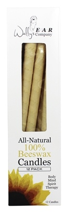 Wally's Natural Products - All-Natural 100% Beeswax Multi-Purpose Hollow Candles - 12 Pack