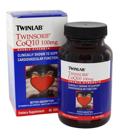 DROPPED: Twinlab - Twinsorb CoQ10 Double Strength 100 mg. - 45 Softgels