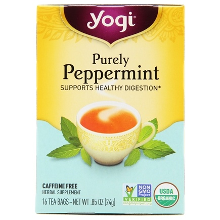 Zoom View - Purely Peppermint Organic Tea Caffeine Free