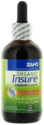 DROPPED: Zand - Insure Immune Support Liquid Organic - 4 oz. Insure Herbal