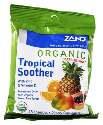 Zoom View - Herbalozenge Organic Tropical Soother with Zinc & Vitamin C