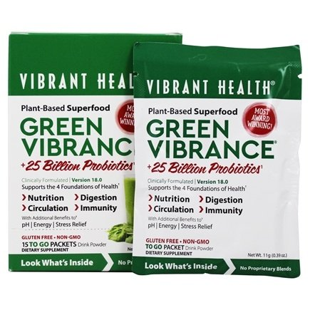 Vibrant Health - Green Vibrance Version 14.0 Daily Superfood - 15 Packet(s)