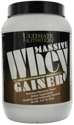 DROPPED: Ultimate Nutrition - Massive Whey Gainer Chocolate - 4 lbs.