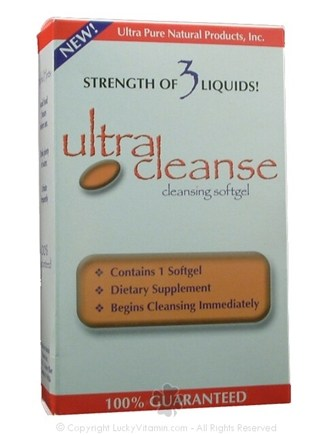 DROPPED: Ultra Pure Natural Products - Ultra Cleanse Cleansing Softgel - 1 Softgels
