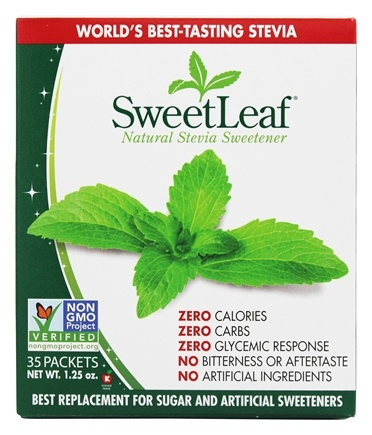 SweetLeaf - 100% Natural Stevia Sweetener - 35 x 1g Packets