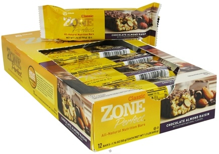 DROPPED: Zone Perfect - All-Natural Nutrition Bar Chocolate Almond Raisin - 1.76 oz. CLEARANCE PRICED