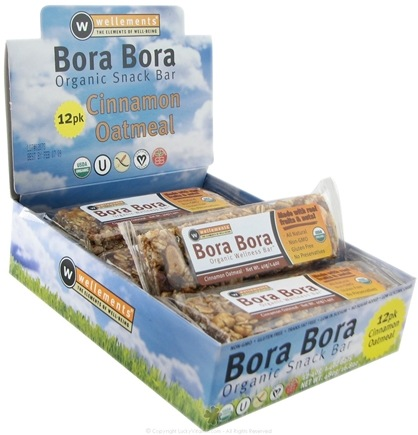 DROPPED: Wellements - Bora Bora Organic Snack Bar Cinnamon Oatmeal - 1.4 oz.