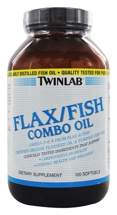 DROPPED: Twinlab - Flax/Fish Combo Oil - 120 Gelcaps