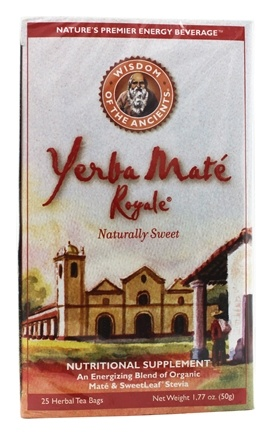 Wisdom of the Ancients - Yerba Mate Royale Tea Bags - 25 Tea Bags