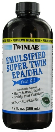 DROPPED: Twinlab - Emulsified Super Twin EPA/DHA Fish Oil Mint - 12 oz. CLEARANCE PRICED