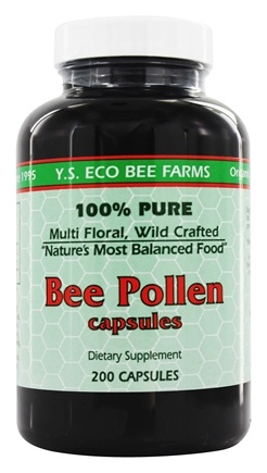 YS Organic Bee Farms - Bee Pollen 500 mg. - 200 Capsules