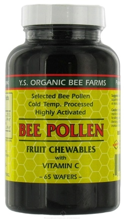 DROPPED: YS Organic Bee Farms - Bee Pollen Chewables Bp with Vit C 1400 mg. - 65 Wafers