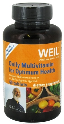 DROPPED: Weil Nutritional Supplements - Daily Multivitamin for Optimum Health with 1000 IU Vitamin D - 60 Tablets CLEARANCE PRICED