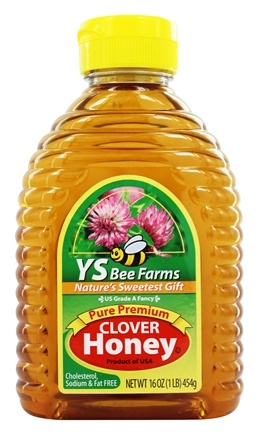 YS Organic Bee Farms - Clover Honey Pure Premium - 16 oz.