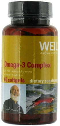 DROPPED: Weil Nutritional Supplements - Omega-3 Complex - 60 Softgels CLEARANCE PRICED