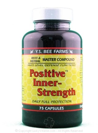 DROPPED: YS Organic Bee Farms - Positive Inner Strength - 75 Capsules