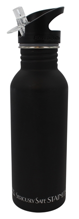 New Wave Enviro Products - Flip n' Sip Stainless Steel Water Bottle Black Matte - 20 oz.