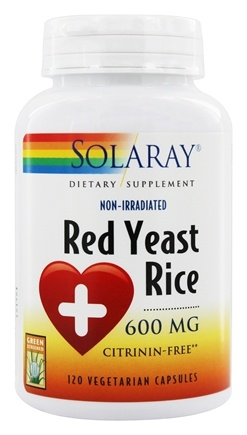 Solaray - Red Yeast Rice 600 mg. - 120 Vegetarian Capsules