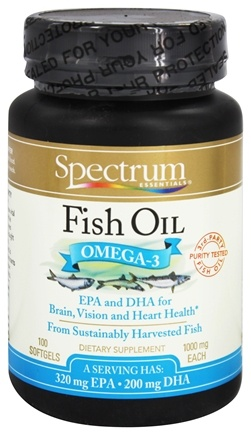Spectrum Essentials - Fish Oil 1000 mg. - 100 Softgels (formerly Norweigian Fish Oil)