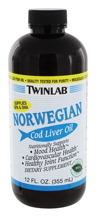DROPPED: Twinlab - Norwegian Cod Liver Oil Mint - 12 oz.