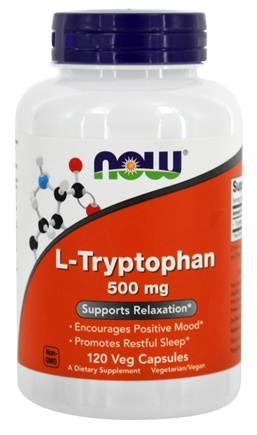 NOW Foods - L-Tryptophan 500 mg. - 120 Vegetarian Capsules