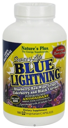 DROPPED: Nature's Plus - Source of Life Blue Lightning - 180 Vegetarian Capsules CLEARANCE PRICED