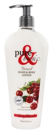 Pure & Basic - Natural Hand & Body Lotion Cherry Almond - 12 oz.