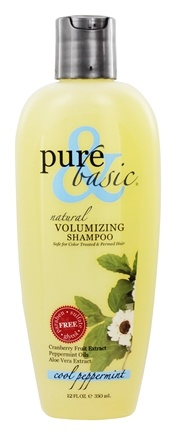DROPPED: Pure & Basic - Natural Shampoo Volumizing Cool Peppermint - 12 oz.