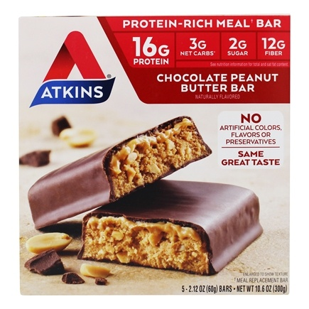 Atkins Nutritionals Inc. - Advantage Meal Bar Chocolate Peanut Butter - 5 Bars