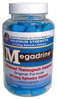 DROPPED: Hi-Tech Pharmaceuticals - Megadrine RFA-1 with 10mg Ephedra Extract - 120 Caplets