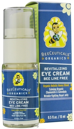 DROPPED: BeeCeuticals Organics - Revitalizing Eye Cream Bee Line Free Calming Chamomile & Calendula - 0.5 oz. CLEARANCE PRICED