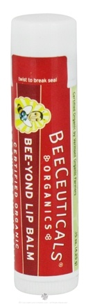 DROPPED: BeeCeuticals Organics - Bee-Yond  Lip Balm Strawberry - 0.15 oz. CLEARANCE PRICED