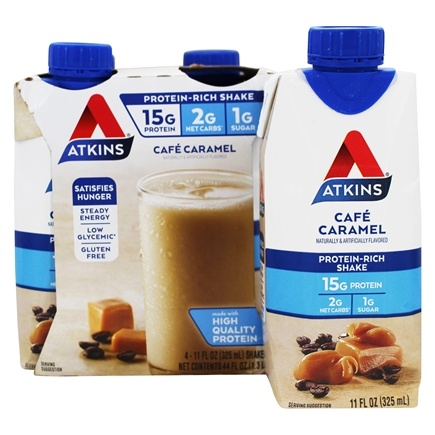 Atkins Nutritionals Inc. - Advantage RTD Shake - 11 oz. Cafe Caramel Latte - 4 Pack