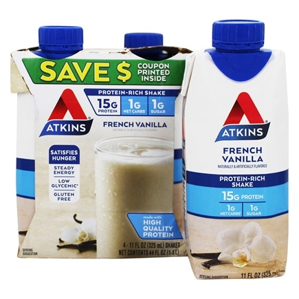 Atkins Nutritionals Inc. - Advantage RTD Shake - 11 oz. French Vanilla - 4 Pack