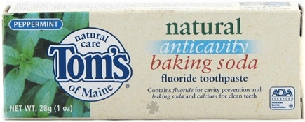 DROPPED: Tom's of Maine - Natural Toothpaste Anticavity Baking Soda Toothpaste Travel Size Peppermint - 1 oz.