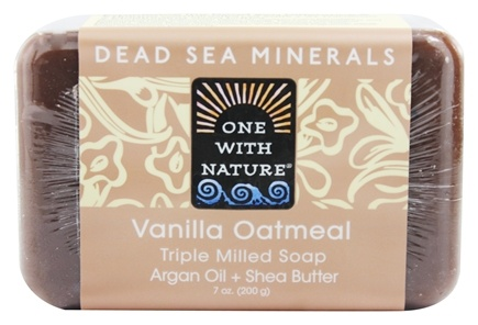 One With Nature - Dead Sea Mineral Bar Soap Mild Exfoliating Vanilla Oatmeal - 7 oz.