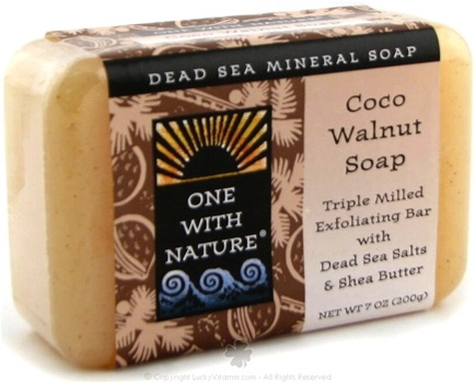 DROPPED: One With Nature - Dead Sea Mineral Bar Soap Exfoliating Coco Walnut - 7 oz.