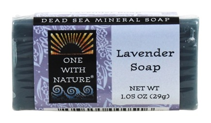 DROPPED: One With Nature - Dead Sea Mineral Bar Soap Mini Lavender - 1.05 oz.