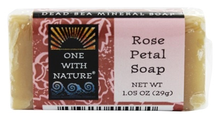 One With Nature - Dead Sea Mineral Bar Soap Mini Rose Petal - 1.05 oz.