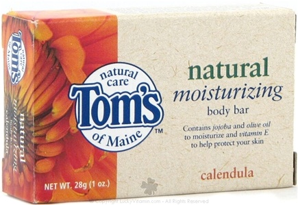 DROPPED: Tom's of Maine - Natural Moisturizing Body Bar Travel Size Calendula - 1 oz.