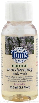 DROPPED: Tom's of Maine - Natural Moisturizing Body Wash Lavender - 32.5 ml.