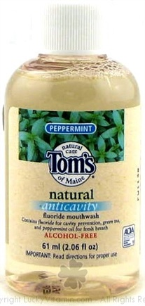 DROPPED: Tom's of Maine - Natural Anticavity Fluoride Mouthwash Travel Size Peppermint - 2 oz.