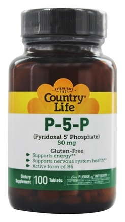 Country Life - P 5 P Pyridoxal 5' Phosphate (P5P) 50 mg. - 100 Tablets