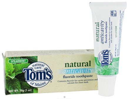 DROPPED: Tom's of Maine - Natural Toothpaste Anticavity With Fluoride Travel Size Spearmint - 1 oz.