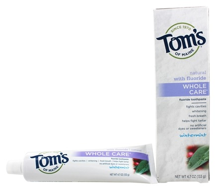 Tom's of Maine - Natural Toothpaste Whole Care With Fluoride Wintermint - 4.7 oz.