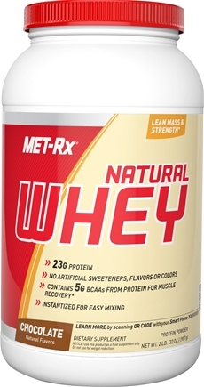 DROPPED: MET-Rx - 100% Natural Whey Instantized Chocolate - 2 lbs. CLEARANCED PRICED