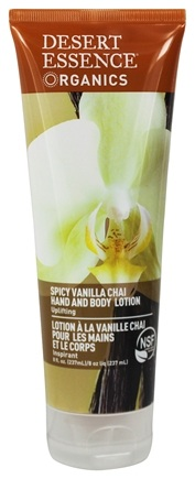 Desert Essence - Hand and Body Lotion Spicy Vanilla Chai - 8 oz. LUCKY PRICE