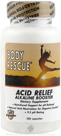 DROPPED: Body Rescue - Acid Relief Alkaline Booster Dietary Supplement - 120 Capsules