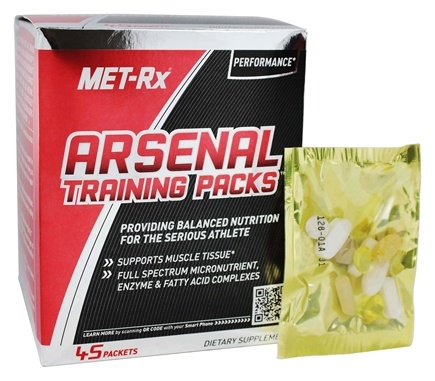 DROPPED: MET-Rx - Arsenal Training Packs - 45 Packet(s)