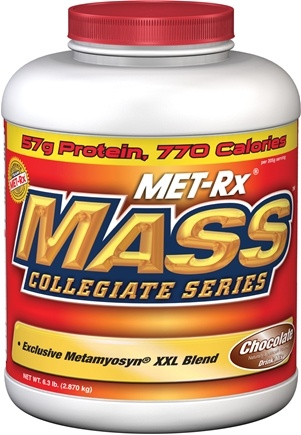 DROPPED: MET-Rx - Mass Collegiate Powder Chocolate - 6.3 lbs.